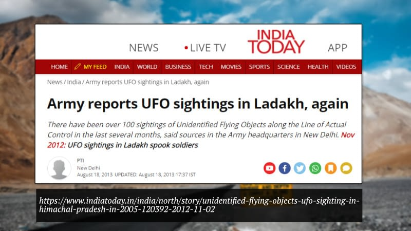 Indian Army UFO Sighting in 2013