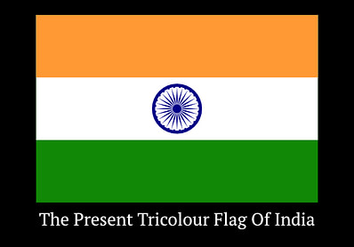 The Present Tricolour Flag Of India Since 1947