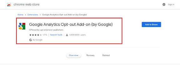 Opt Out Analytics Chrome Plugin