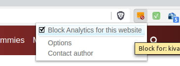 Block Yourself From Analytics Chrome Plugin