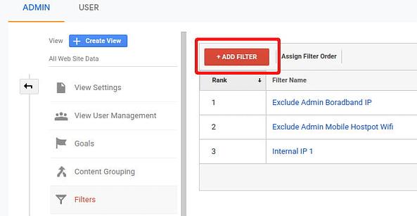 Add New Filter In Analytics