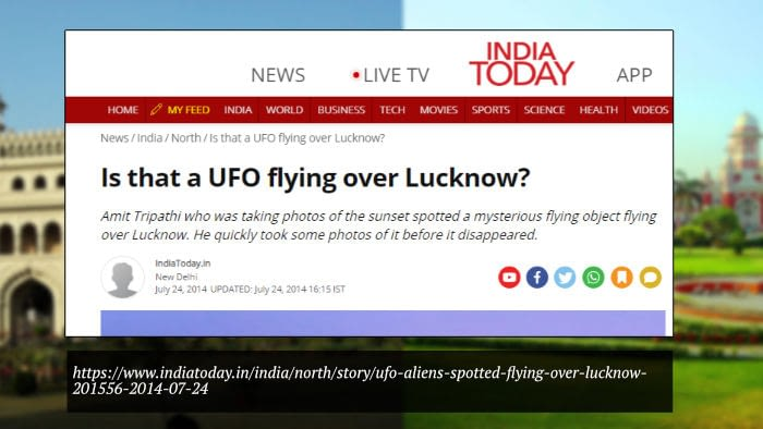 UFO Flying Over Lucknow
