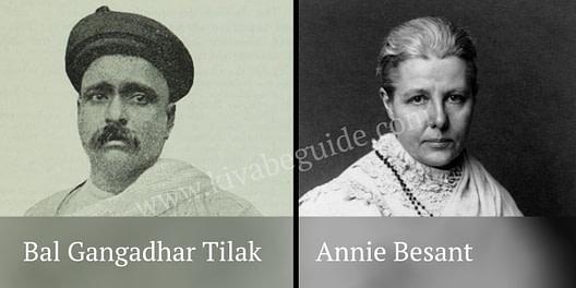 Annie Besant & Bal Gangadhar Tilak