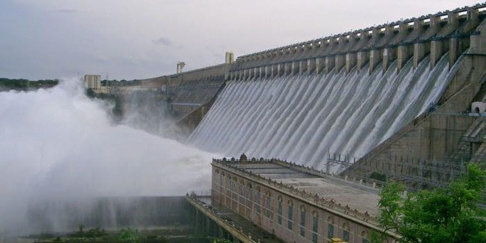 Nagarjuna-Sagar-Dam in Andhra-Pradesh